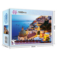 1000 Pieces Amalfi Coastal Jigsaw Puzzles Adults Kids Learning Educational Game