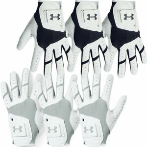 Under Armour Mens UA Iso-Chill Cabretta Leather Golf Glove Left Hand 3 Pack