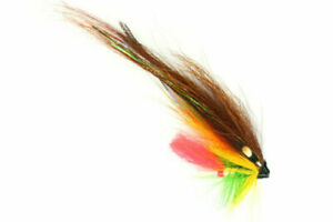 "x3 Quality Salmon Flies TEMPLEDOG GREEN HIGHLANDER 1"" TUBE"