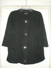 Women's Jones New York Signiture Woman 3/4 Sleeve Shirt Plus Size 1X Black