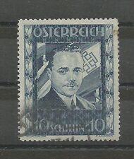 Österreich 1936 10 Schilling Dollfuß gestempelt