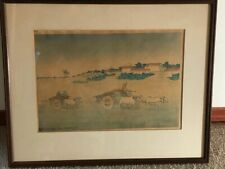 "CHARLES W. BARTLETT ""Benares. Early Morning"", Woodcut, 1919"