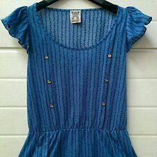 Maglietta, t-shirt, blusa, camicetta,blu tasche bottoni,ancora, Pull & Bear, S