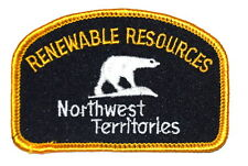 NORTHWEST TERRITORIES – RENEWABLE RESOURCES – CANADA CA Police Sheriff Patch 2X3
