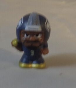 """2020 NFL Silver Series 9/1"""" Football Collectible Toy Figure Wilson Seahawks"""