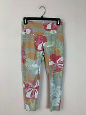 Fresh Produce Gray Floral Print Cotton Cropped Capri Yoga Legging X-Small XS