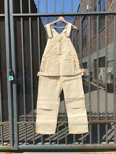 Deadstock Cowden Carpenter Overalls. 36 x 30. off-white + red trim. Union Made