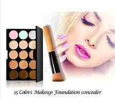 15 Colour Camouflage Concealer Make Up Cream Correction Palette Plus Brush CL1