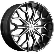 """Kraze KR1012 Frenzy 26x10 5x115/5x120 +20mm Black/Machined Wheel Rim 26"""" Inch"""