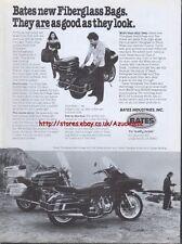 Bates Fiberglass Bags Motorcycle 1980 Magazine Advert #424