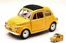 Fiat 500 F 1965 Yellow 1:24 Model BBURAGO