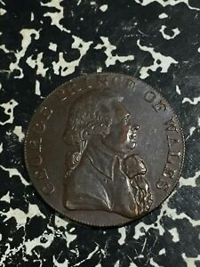 1794 Great Britain Sussex Prince of Wales Conder Token 1/2 Penny Lot#JM2212