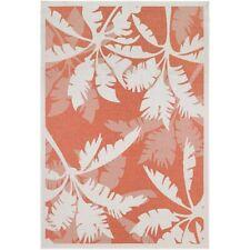 Couristan Monaco Coastal Floral Ivory & Orange Indoor/Outdoor Rug