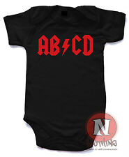 Naughtees Clothing Abcd Body Acdc Estilo Roca Body Traje Balancín Babysuit