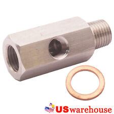 Universal Car Engine Block 1/4NPT Adaptor For 1/8 oil Pressure Gauge T304 Steel