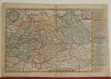 SAXONY GERMANY & CZECH REPUBLIC 1749 SCHREIBER ANTIQUE COPPER ENGRAVED MAP