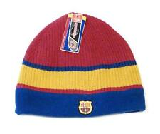 FCB Barcelona Football Club Reversible Knit Fleece Beanie Skull Cap Adult NWT