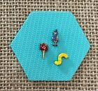 Authentic Origami Owl Candy Worm, Candy Apple & Witch Kid Charms (set of 3)