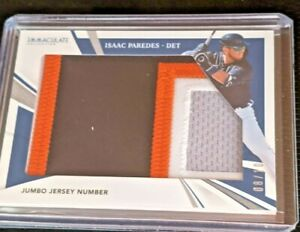 2021 PANINI IMMACULATE ISAAC PERDES JUMBO PATCH JERSEY NUMBER 8/10 DETROIT TIGER