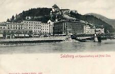 Carte AUTRICHE SALZBOURG SALZBURG mit Kapuzinerberg und Hôtel Stein