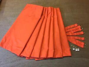 Camper Van Curtain Set,VW Orange Both Sides:T25,Blackout/Thermal/Magnets
