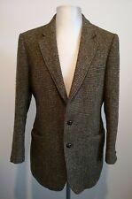 Mens Harris Tweed Button Blazer Wool Jacket Made in England - Size Large