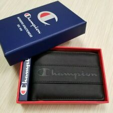 MENS CHAMPION BLACK BIFOLD WALLET WITH ORIGINAL GIFT BOX CH3039-001 NEW