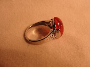 AMBER (RESIN) FASHION RING SIZE 7 1/2 A5353-54