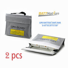2X 3 in 1 Large LiPoSafe Battery Guard Charge Storage Protection Bag64x180x240mm