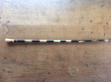 "Magnificent Antique 2 Tone HORN mid c19th Victorian Walking Stick Cane 34"""