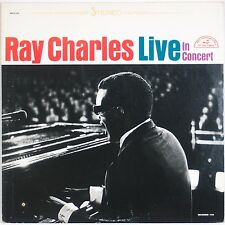 RAY CHARLES: Live in Concert USA ABC Stereo Jazz LP VG+