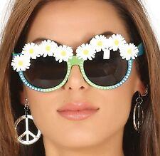 Mujer Margaritas AÑOS 60 AÑOS 70 Hippy Tintado Gafas Accesorio para disfraz