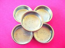 """Fits Ford 5pk 1"""" Freeze Expansion Plugs Zinc Plated Steel Engine Cylinder NOS"""