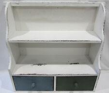 French Provincial Country Rustic Wooden Spice Rack Cabinet & 2 Drawers WD509