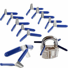 10 PCS Padlock Shim Set Key Unlocking Accessories Tool Kit Without Lock BLUE