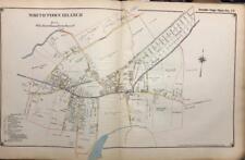 1917 SMITHTOWN BRANCH SUFFOLK COUNTY LONG ISLAND NEW YORK ATLAS MAP