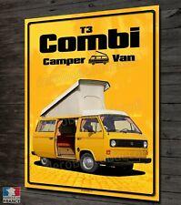 Plaque métal déco 40x30cm VW Combi T3 camper van