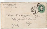 united states 1892 goldsmith & wolf, new street new york stamps cover ref 21107