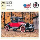 Buick Model 10 4 Cyl. 1908-1911 USA CAR VOITURE CARTE CARD FICHE