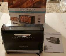 New listing Nostalgia Bacon Express Bcn6Bk Grill Rack Very Clean w/ Timer Black w/ Box