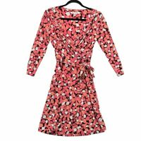 Diane Von Furstenberg Silk Faux Wrap Dress size 4