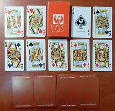 JAPAN AIR LINES JAL POCKET 48mm x 79mm 52 PLAYING CARDS - p04!!