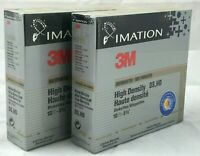 "3M Unformatted IBM High Density DS HD 10 Count 5 1/4"" Diskettes Disks 2 Pack NEW"