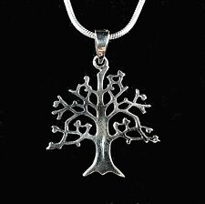Celtic Tree of Life Pendant Handcrafted 925 Sterling Silver Carved Out