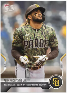 ⭐️2021 TOPPS NOW #164 FERNANDO TATIS JR SAN DIEGO PADRES 40 HR AND 30 SB IN 162