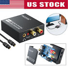 192kHz Digital Optical Coaxial Toslink to Analog Converter RCA L/R 3.5mm Audio