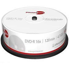 1000 PRIMEON DVD+R 4.7GB 120 Minuti 16X Cake Box dvd r +R +1 CD Verbatim 2761223
