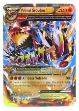 Pokémon Individual Card Mega EX Primal Groudon with Card Sleeve and Box Case