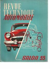R.T.A. REVUE TECHNIQUE AUTOMOBILE SALON 1955
