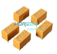 10PCS DC 12V Coil DPDT 8 Pin 2NO 2NC Mini Power Relays PCB Type HK19F